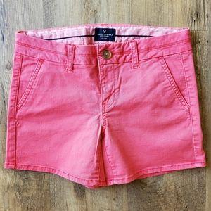 American Eagle Peach Pink Midi Shorts | Size 4